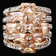 Designer Ring Fingerring Damenring XL Breiter Vergoldet Kristall GR 18 Paris