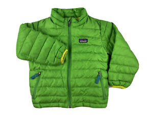 Patagonia Baby Down Sweater Size 3T Toddler Green Full Zip Puffer Jacket 60517