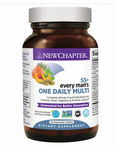 New Chapter every man's 55+ One Daily Multi-Vitamin 24 Veg Tablets  Exp 06/2021