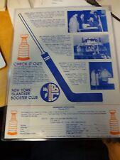 New York Islanders Booster Club Membership Application
