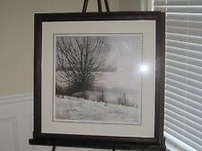 """Sanders McNeal Landscape LE 2799/3000 framed and matted print 34x34"""""""