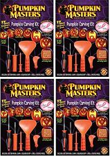 4-SET PUMPKIN PARTY CARVING KITS Family Halloween Masters Decor School Fun NEW