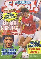 CHARLIE NICHOLAS / LINEKER / CHELSEA TEAM / NEALE COOPERShoot30Aug1986