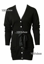 new RRP $170 WITCHERY LONG BLACK CARDIGAN M 12