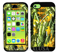 For Apple iPhone 5c KoolKase Hybrid Armor Silicone Cover Case - CAMO MOSSY 08