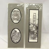 Mark Monsarrat Matted Lithograph San Francisco Scenes Signed Golden Gate Cable