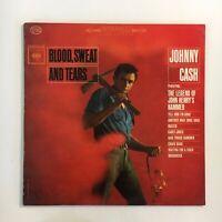 JOHNNY CASH ~ BLOOD SWEAT & TEARS ~ 1963 ORIG 1ST PRESS LP ~ 360 SOUND