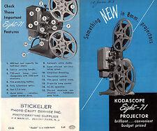 Eastman Kodak Kodascope Eight-71 Projectors 1949 Brochure Photos Features