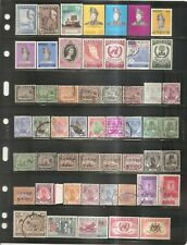 British Commonwealth - Older Stamps From Malaya States on Two Sided Card.