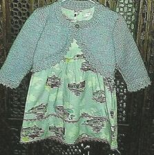 BABY 12-18 Mths * BODEN VINTAGE LOOK PRINT DRESS with BOLERO *  Lilac