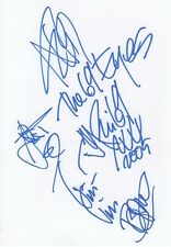 69 Eyes Autogramme signed 15x21 cm Karteikarte