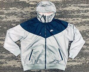 Nike Sportswear NSW Windrunner Jacket Gray/Blue/Pink AR2191-041 Men's Size L