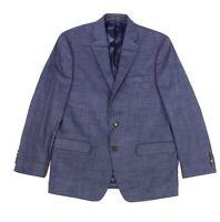 Lauren by Ralph Lauren Mens Sport Coat Blue 38 Short Plaid Two-Button $295 220