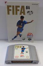 Games Gioco Game Console N64 NINTENDO 64 Play PAL EUR - FIFA 64 - EA Sports - -