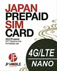 JP Mobile SIM Card: Prepaid Travel Data SIM for Japan: 8 days 3.0Gb !!