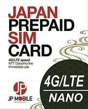 JP Mobile SIM Card: Prepaid Travel Data SIM for Japan: 8 days 3.0Gb !!