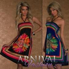 Regular Size Clubwear Floral Dresses for Women