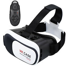 Virtual Reality VR Headset 3D Glasses With Remote for Android IOS iPhone Sa