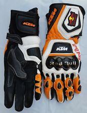 KTM Motorbike MotoGP Racing Leather Gloves
