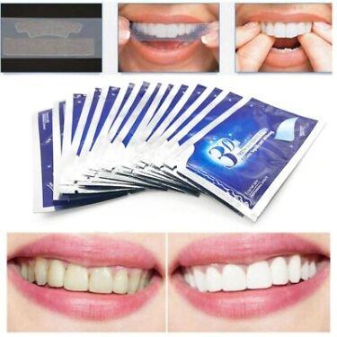 28Pcs14Pair Gel Teeth Whitening Strips Oral Hygiene Care Double Elastic Teeth
