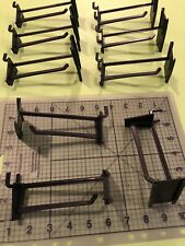 9 Black Plastic Pegboard Hooks with Price Label Placard above 4� Peg, Retail Pos