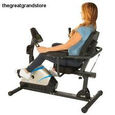 Exerpeutic High Capacity Programmable Magnetic Recumbent Bike w/ Air Soft Seat