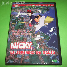 NICKY LA APRENDIZ DE BRUJA STUDIO GHIBLI DVD NUEVO Y PRECINTADO