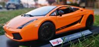 Maisto 1:18 Scale Lamborghini 2007 Gallardo orange Diecast Model Car SEE VIDEO