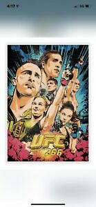 2021 Panini Instant UFC 266 Artist Series Poster Card Butcher Billy IN HAND