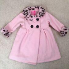 Good Lad Girls 18M Pink Leopard Trim Fleece Swing Coat Jacket