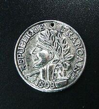 20pcs Tibetan Silver Coin Round Charms 23mm R739
