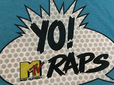 Classic Music Television MTV YO RAPS ! Hip Hop R&B Party Adult RARE T-shirt L