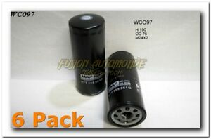 6 x Wesfil Oil Filter for Audi A6 4.2L V8 2000-2004 WCO97