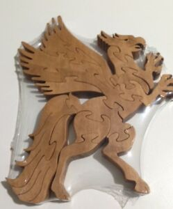 Wooden Hippogriff (Harry Potter) Scroll Saw Puzzle - Handmade -15 Pieces