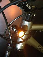 Brightside Bike Light. Side Facing Amber USB bicycle Bike Light. Be seen side on