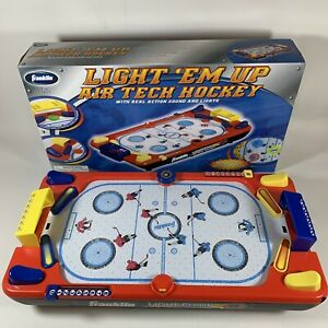 Franklin Light 'Em Up Air Tech Hockey, Tabletop Air Hockey Game, Lights/Sounds