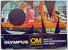 Olympus Zuiko Lens Group Om System Manual Instruction Book Vintage Made in Japan