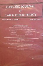 Harvard Journal of Law & Public Policy Vol. 39, No. 1, 2016 new paperback