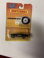 1990 Matchbox Superfast #12 Black Pontiac Firebird S/E New On Card