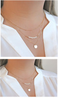 Gold Cricle coin Pearl Beads Circle Multi Layered 3 Layer Boho Necklace - USA