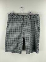 Travis Mathew Men's Golf / Casual Stretch Shorts - Size 32 - Grey/Black Check