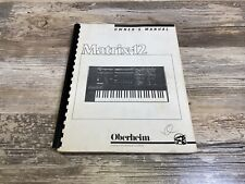 Oberheim Matrix 12 Owners Manual Original Manual Great Condition