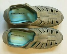 Sketchers Relaxed Fit Air Cooled Memory Foam Womens Shoes Blue Gray/Brown Size 7
