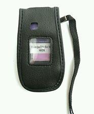 NOKIA 6131 neri in pelle stile Phone Cover w / Clip Cintura