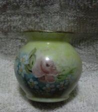 Vintage Schmidt Porcelana Brasil Handpainted by Jean Forster - Miniature Vase