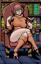 Velma reading scooby doo horror comic sexy art signed 11x17 print Rod Jacobsen