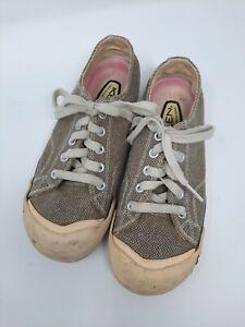 KEEN Womens Tennis Shoe 6 Brown/Tan Corduroy Casual Sz 6