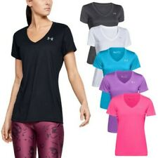 2020 Under Armour Ladies Tech V Neck T-Shirt - UA Gym Training Running Sport Top