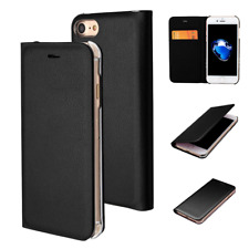 New Black Flip Case For Apple iPhone 7 8 Protective Book Case Cover