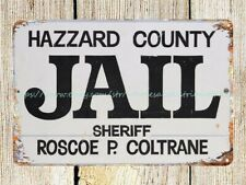 Us Seller- Hazzard County Jail metal tin sign man cave picture bedroom wall